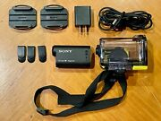 Sony Exmor Steady Shot Digital Action Camera With Wifi, Black, Hdr-as15 + Extras