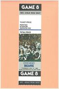 Chicago Bears Detroit Lions 11-27-1980 Nfl Ticket Alan Page Photo Walter Payton