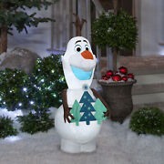 New Disney Frozen Olaf Airblown Christmas Inflatable 5.5-ft Tall Led Light Up