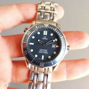 2001 Omega Seamaster Professional Bond Watch Diver Blue Wave Dial Full Set Watch
