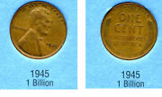 1945 P Wheat Penny Key Date Us Circulated One Lincoln Rare 1 Cent U.s Coin 694