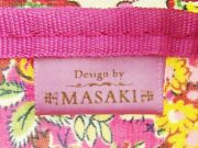 Lee And Masaki Pouch Flower Floral Pink Vinyl Coating Canvas Auth Used A1917