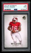 2012 Sp Authentic 87 Russell Wilson Rc Psa 9