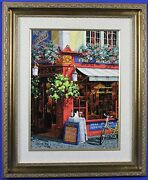 Victor Shvaiko Signed Numbered The Masons Arms Hand Embleshed Serigraph Canvas