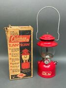 Vintage 1966 Coleman Model 200a195 Red Lantern And Box 2 /66 Single Mantle