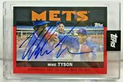 Mike Tyson 2021 Topps X Espn Once Upon A Time In Queens Red Autograph Auto10/10