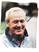 Arnold Palmer Signed Photograph With Certificate Of Authenticity Laminated