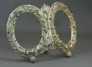 1880 Imperial Russia 84 St. Silver Filigree Portrait Double Photo Picture Frame