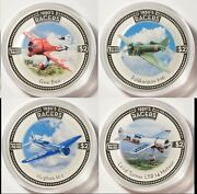 2006 Cook Islands 4 2 Set 1930and039s Racer Airplanes Silver Coins 4 Oz