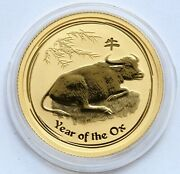 2009 The Year Of The Ox Ochse Australia 1/4 Oz 9999 Gold 25