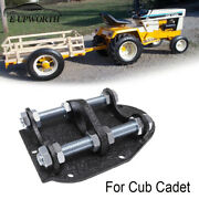1x Adjustable Garden Tractor Pulling Hitch Fit For Cub Cadet Black Powder Coated