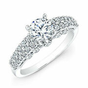 Natural 0.97 Ct Round Diamond Engagement Ring 14k Solid White Gold Size 5.5 6 7