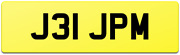 J31 Jpm Short And Tidy Double Digit Personalised Private Reg Number Plate / Jp Jm