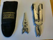 Gerber Mp 650 Multitool With Gerber Nylon Pouch Needlenose And Bluntnose Heads