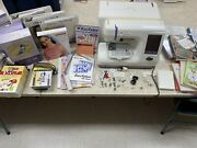 Janome Memory Craft Mc10000 Sewing And Embroidery Machine With Tons Of Extras