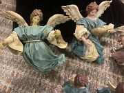 Vintage Paper Mache Angel Christmas Tree Topper/ornament Lot Of 11