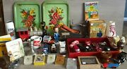 Large Lot Of Vintage Collectible Items Junk Drawer Lot Estate Toys Decor More