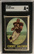 1958 Topps Jim Brown Rc 62 Sgc A Authentic Hof Browns Football Rookie Card