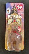 Ty Beanie Babies Rare - 1997 Britannia The Bear - In Packaging With Tags