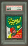 1970 Topps Football Wax Pack 1st Series Psa 8 Nm-mt, Possible 90 O.j. Simpson