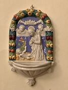 Fratelli Niccacci Deruta Holy Water Font Italy Pre Owned.