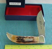 1992 Case Classic - Case Tested Xx 51072 Stag Bulldog Folding Hunter Knife - Nos