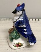 Royal Albert Doulton Old Country Roses Blue Bird Holiday Christmas Tree Ornament