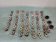 Lot Of 70 Vintage Singer Sewing Machine Bobbins 10 Hole And 8 Hole Plus