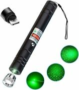 High Power Laser Pointer Long Range Tactical Flashlight Usb Charging For Sports
