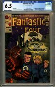 Fantastic Four 45 1965 Marvel Cgc 6.5 F+ 1st Inhumans White Pages Key