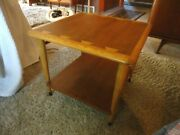 Mid Century Modern Lane Acclaim Dovetail Lamp End Side Table 900-06 Square 23