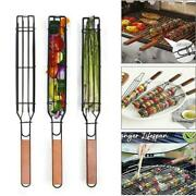 Bbq Charcoal Grilling Baskets Stainless Steel Bbq Companion Nonstick Kabob Tools