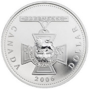 2006 Canada Victoria Cross Proof Finish Silver Dollar - Coin Only Case Avail