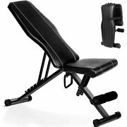Intey Adjustable Weight Bench, Foldable Multi Incline Benches Full Body Trainer