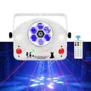 Led Dmx Laser Project Stage Lights Disco Party Dance Holiday 4 In 1 Strobe Lamp