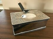 Magnificent Antique Cooper Brothers Butler Crumb Container - Silver Ep