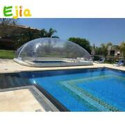 Clear Inflatable Swimming Pool Cover Dome With Covered Outdoor Customized Pvc
