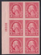 577 - 2andcent Imperf 4th Bureau Flat Plate Printing Plate Block - Vf-xf Nh - Cv 45