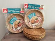 15 Vintage Bamboo Wicker Paper Plate Holders 2 Pkgs Of 4 + 7 Extra Bbq Camping