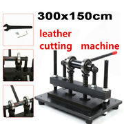 300150mm Manual Leather Cutting Die Cut Machine Leather Embossing Tool Black Us