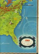 Twa Trans World Airlines Air Routes Map United States Europe Africa And India 1948