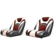 Ranger Boat Bucket Helm Seats 536798 | 26 1/4 Inch White Red Pair