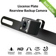 Backup Camera Rear View License Plate Night Vision Waterproof For Sony Radio