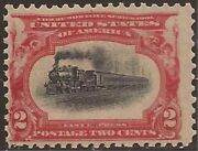 Us Stamp 1901 2c Pan-am Expo 2 Stamps Diff Shades And Train Positions 295