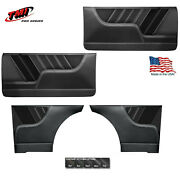 Sport R Molded Door And Quarter Panel Set - Black - For 1962-65 Chevy Ii By Tmi