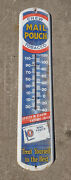 Vintage Mail Pouch Chewing Tobacco Thermometer 39 Tru Temp 1951 Nice
