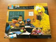 New Sealed 1985 Vintage Sesame Street Muppets 24 Piece Mb Puzzle