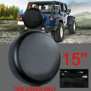 Spare Tire Cover Fit For Jeep Wrangler 15inch Size M Wheel Tire Cover O