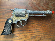 1950's Wyandotte Hopalong Cassidy 'gold' Cap Gun With Incised Grips Western Toy