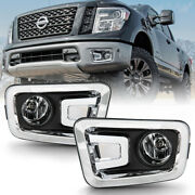 [factory Style Replacement W/switch] For 16-19 Nissan Titan Fog Light Lamp+mount